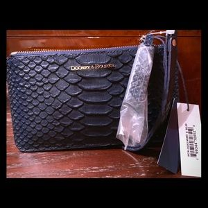 Dooney & Bourke Midnight Blue Carrington Wristlet